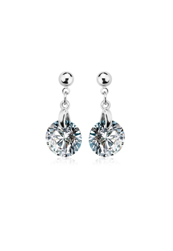 OUXI silver OUXI Cubic Zirconia Earrings 20896 OU821AC59WMMMY_1