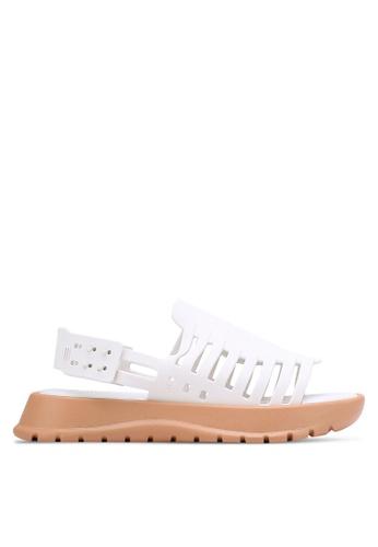 Melissa white and brown Melissa Huarache Il Sandals ME121SH0RELLMY_1