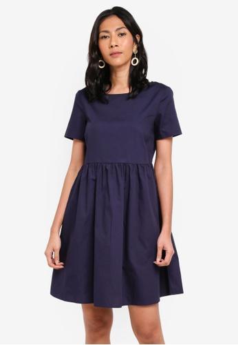OVS blue Woven Short Sleeve Dress 79511AA71E66E4GS_1