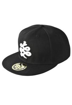 Baem Korea White Logo Snapback Black Baseball Cap