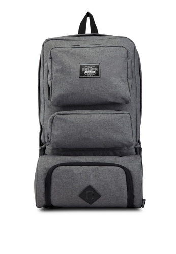 Chocollection grey Lincoln Travel Backpack CH825AC79ZUUHK_1