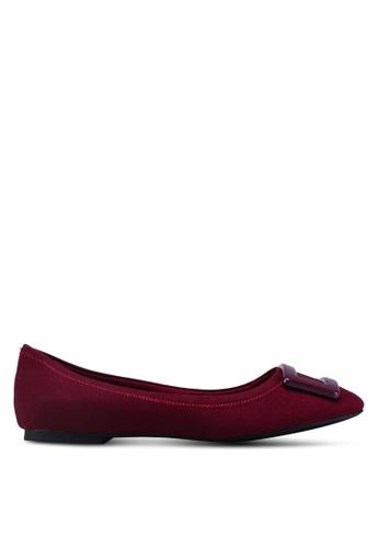 Dorothy Perkins red Burgundy Portia Ballerina Pumps 20F39SH4866C4BGS_1