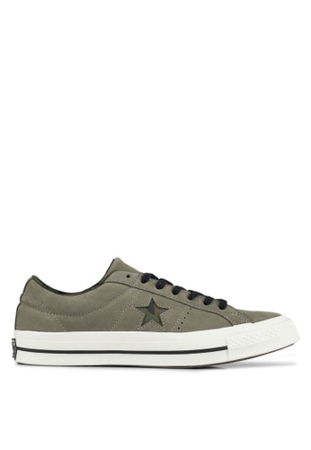 Converse green One Star Ox Sneakers CO302SH0SW6DMY_1