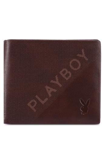 Playboy brown Bi-Fold Leather Wallet 0D66FACEDB9C69GS_1