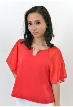 Elise Boxy Top in Red
