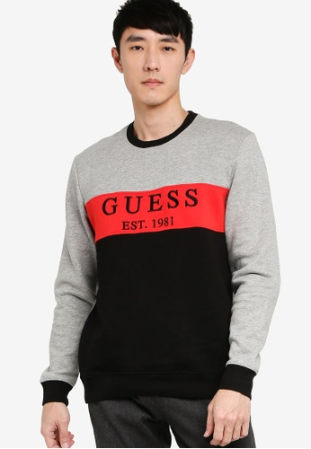 GUESS multi Clem Crew Neck Sweatshirt 17326AAB8255F8GS_1