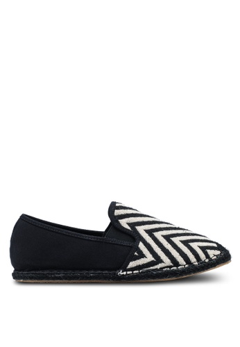 ZALORA black Mixed Materials Espadrilles 06BFCSHD295396GS_1