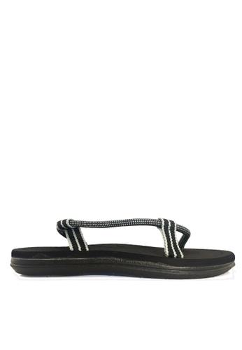 Twenty Eight Shoes black Simple Ergonomic Strappy Sandals VS49 2A5ADSH6CF0802GS_1