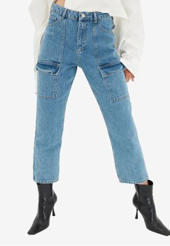 Trendyol blue High Waist Mom Jeans 3C4D0AA4A10DF5GS_1