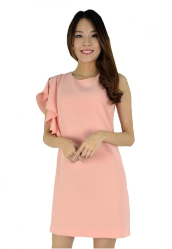 MOONRIVER Carrie Butterfly Sleeves Flare Dress MO886AA44CTBSG_1