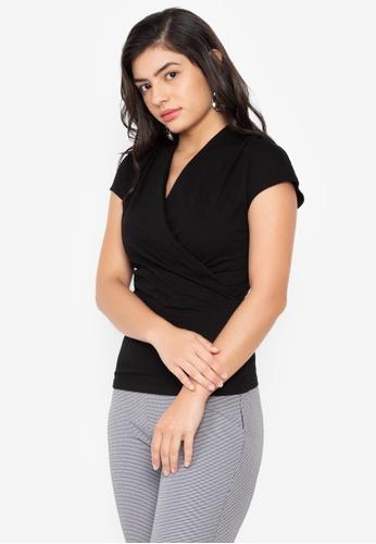 Wear Kris black Kimberly Overlap Knit Top 002D1AAFA93035GS_1