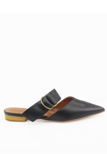 Twenty Eight Shoes black Buckle Pointed Toe Mules VS178 CA7D4SHC694CEEGS_1