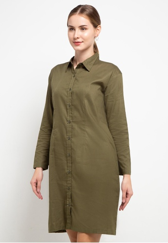 CHANIRA LA PAREZZA green Chanira La Parezza Luna Dress- Olive Green 72671AA23CEA99GS_1