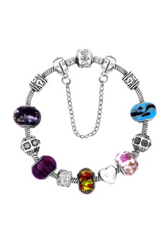 Treasure by B&D DBY021 Bohemian Colored Crystal Lucky Beads DIY Bracelet