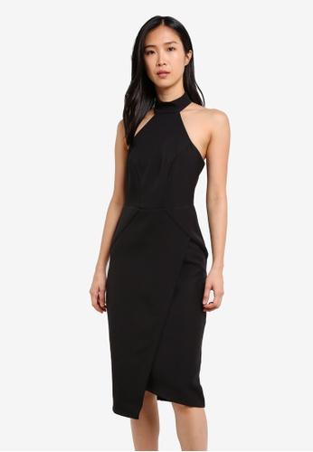River Island black Trish Midi Dress RI009AA0S9TJMY_1