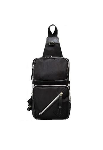 A FRENZ black Chest Pack Shoulder Fanny Pack D8E83AC78817D1GS_1