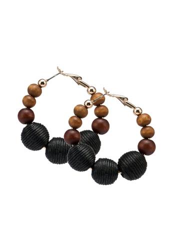 ALDO black Carwinrise Pierced Earrings 672F1ACBDC9083GS_1