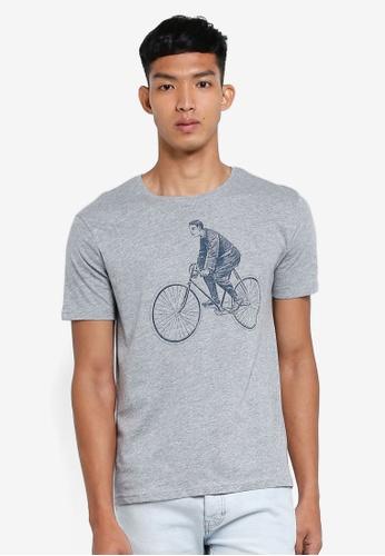 OVS 灰色 圖案印花T恤 95EDCAA745D499GS_1