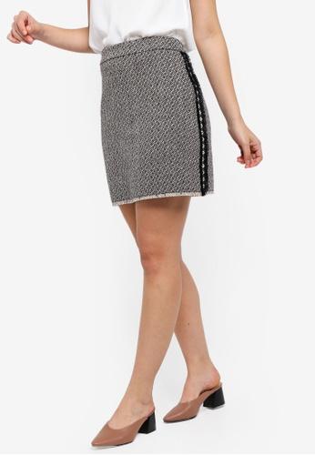 ZALORA multi Tweed Mini Skirt 1B77FAAE4ECFE5GS_1