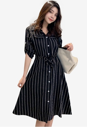 b998183fc00c Buy Shopsfashion Midi Fit & Flare Shirt Dress   ZALORA HK