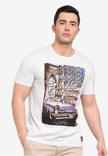 Brave Soul beige Pontiac T-Shirt F46FCAAFC8519CGS_1