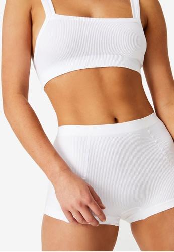 Cotton On Body white Seamfree Shorty Briefs AEEA8USCA17812GS_1
