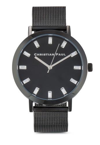 The Strand  43mm 奢華風網眼帶手錶, 錶類, 飾品esprit台灣網頁配件