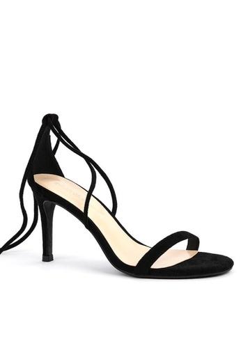 Twenty Eight Shoes black Strap Lace Up High Heel Sandals 368-3 1C90ASH05360FDGS_1