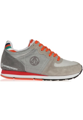 paperplanes grey Paperplanes-1143 Fashion Casual Suede Mesh Tall Up Sneakers US Women Size PA355SH07PIMSG_1