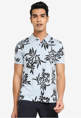 H&M blue Polo Shirt Slim Fit 2CD70AA681F14EGS_1