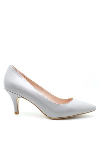 PRODUIT PARFAIT grey Patent Stiletto Heel Pumps 464A3SH79D06E9GS_1
