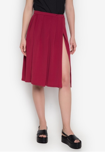 NEW ESSENTIALS red John Herrera Pleated Skirt NE239AA0JD31PH_1
