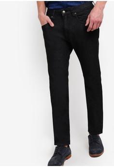 【ZALORA】 修身直筒牛仔褲
