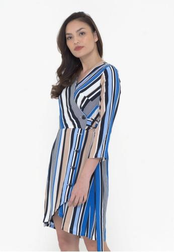 The Executive Wrap Stripe Dress 6D220AA489CE36GS_1