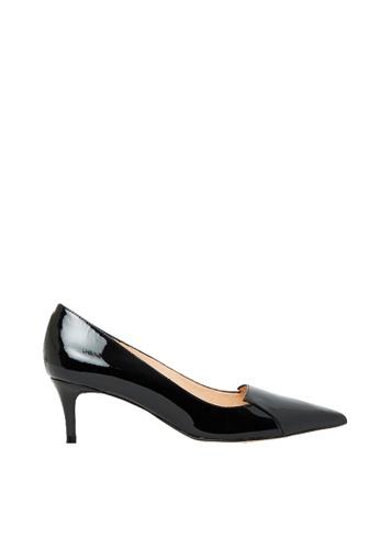 Nina Armando black Connie Patent Leather Low Heel NI342SH0FV40SG_1