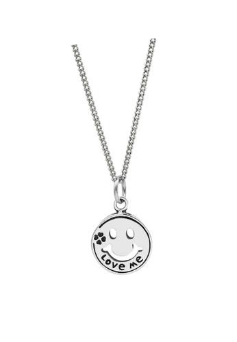 LYCKA silver LDR1233 S925 Silver Happy Smiley Necklace 009A1AC41AE99AGS_1