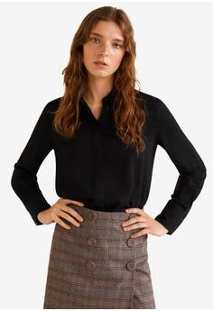 a9eebd1b676f Mango black Textured Shirt 260D4AA5B1DD2CGS 1
