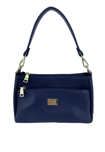 Mel&Co navy Faux Leather Shoulder Sling Bag 240ECACD541F08GS_1