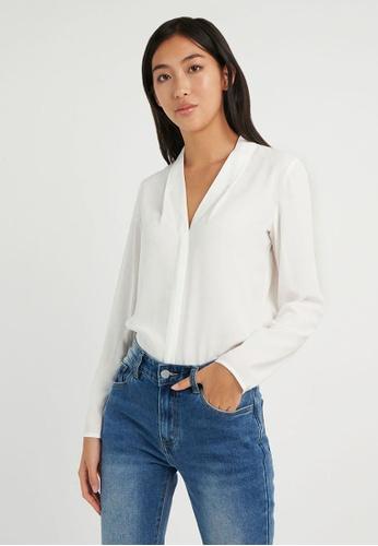 FORCAST white FORCAST Lilian Long Sleeve Blouse 17A75AAA58EB83GS_1