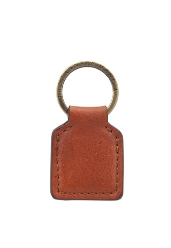 The Tannery Manila brown Edgar Leather Keychain A37FCACE1C737BGS_1
