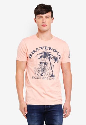 Brave Soul 粉紅色 短袖圓領T恤 084CDAAC6BEA03GS_1