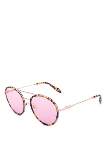 Sonix brown and pink Charli Sunglasses   3C41DGL8D64FFFGS_1