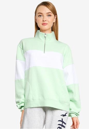 Hollister green Colorblock Pullover 0103DAAF13D6FBGS_1