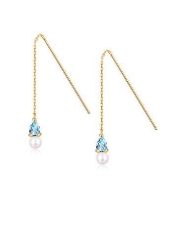 SUNSET gold Premium 925 Sliver Pearl Earring 1DDAFAC484ED17GS_1