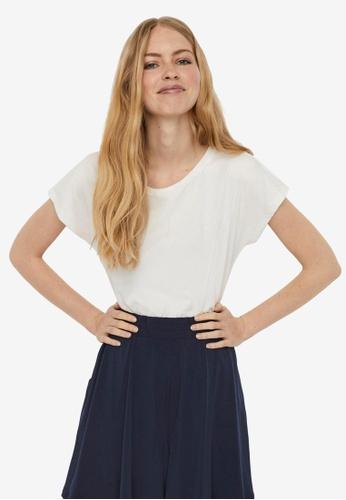Vero Moda white Edin Short Sleeve Wide Tee 90A2EAAE92A068GS_1