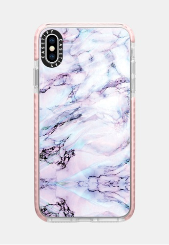 new style a30c6 b91ec Marble Swirl Protective Impact Case for iPhone XS Max - Pink