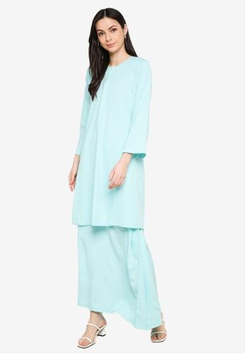 Butik Sireh Pinang green Baju Kurung Pahang Salimah E0CF1AA6A41B23GS_1