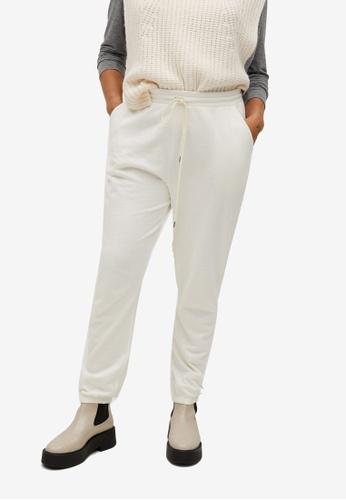Violeta by MANGO beige Plus Size Cotton Jogger-Style Trousers 1792FAA868E21DGS_1