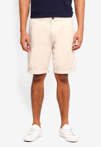 ESPRIT beige Woven Regular Shorts BDBA0AA38A7470GS_1