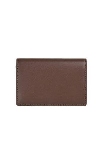 Faire Leather Co. brown Specter VT Business Cardholder (Dark Brown) - Leather Accessories 92993ACF3D9B45GS_1